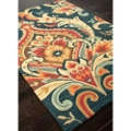 "Large Scale Brocade Design Rug - 90""W x 114""D, 82534"