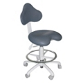 Dental Operator Stool with HybriGel Seat and Foot Ring, 57085