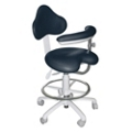 Dental Assistant Stool with HybriGel Seat and Left Armed Support, 57086