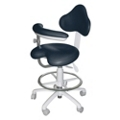 Dental Assistant Stool with HybriGel Seat and Right Armed Support, 57087