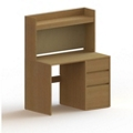 """Wood Compact Computer Desk with Hutch- 42""""W x 24""""D, 13725"""