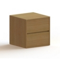 2 Drawer Wood Nightstand, 36453