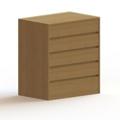 5 Drawer Wood Dresser, 36455