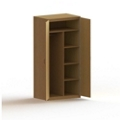 """75""""H Wood Wardrobe Cabinet with Shelves, 36457"""