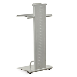 Adjustable Height Metal Lectern with Built-In Light, 43293