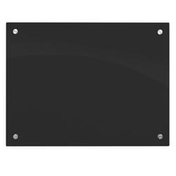 "48""Wx36""H Black Markerglass Board, 80449"