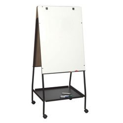 Mobile Double Sided Adjustable Height Melamine Whiteboard Easel, 80527