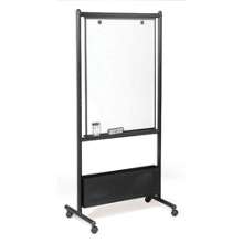 Double Sided Adjustable Height Magnetic Porcelain Dry Erase Easel, 80530
