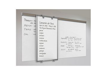 "2-Sided Sliding Whiteboard Panel – 31""W x 44""H, 80947"