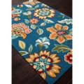 "Rich Flower Pattern Area Rug - 90""W x 114""D, 82529"
