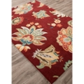 "Gentle Flower Pattern Area Rug - 90""W x 114""D, 82531"