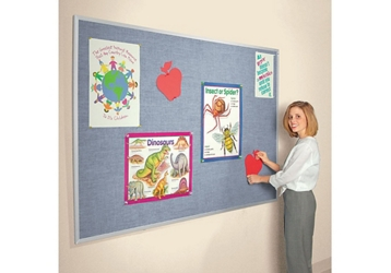 Vinyl Bulletin Board with Aluminum Frame 5'Wx4'H, 80866