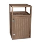 Recycled Outdoor 35 Gallon Trash Receptacle, 85370