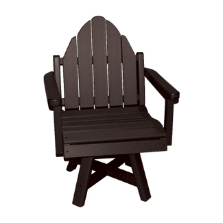 "Outdoor Adirondack Dining Chair with 20""W Swivel Seat, 51394"