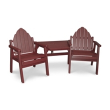 Two Outdoor Adirondack Dining Chairs and Center Table, 51396