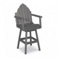 Outdoor Bar Height Swivel Adirondack Chair, 51400