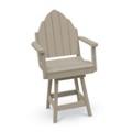 Outdoor Bistro Height Adirondack Swivel Chair, 51402