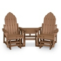 Two Adirondack Glider Chairs and Table, 51406
