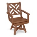 """Chippendale 2 Swivel Chair 20""""W, 51431"""