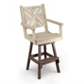 Chippendale 1 Swivel Seat Bar Height Chair, 51441