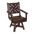 """Chippendale 1 Swivel Seat Dining Chair 20""""W, 51455"""