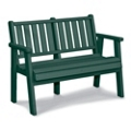 "Capri Low Back Bench 48""W, 85362"