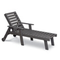 Chaise Lounge Chair with Wheels, 85498