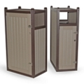 Narrow Recycled Outdoor Trash Receptacle, 85580