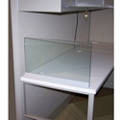 "Desktop Glass Return Screen for 30"" x 13"" Space, 21265"