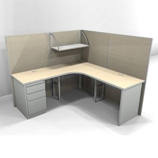 "Corner Cubicle Workstation - 72""W x 72""D, 21845"