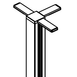 "Three Way T-Connector Post - 5'5""H, 21743"