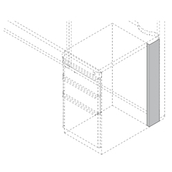 """Right Pedestal Panel Spacer - 4"""", 21755"""