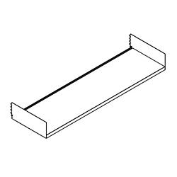 """Open Straight Shelf - 36""""W, 21756"""