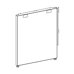 """Right- or Left-Handed End Panel Support - 24""""D, 21816"""