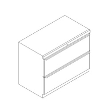 """Two Drawer Lateral File - 30""""W, 30888"""