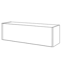 "Cabinet with Flipper Door - 48""W, 36969"