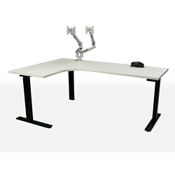 "Height Adjustable Left Hand J-Desk - 70""W, 46146"