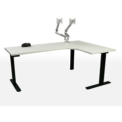 "Height Adjustable Right Hand J-Desk - 70""W, 46147"