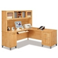L-Desk with Hutch, 13259