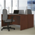 "Two-Person Desk with Privacy Screen - 66""W, 20036"