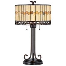 Tiffany Style Dark Bronze Table Lamp, 82675