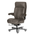 24/7 Big and Tall Chair with Leather Front and Vinyl Sides, 50914