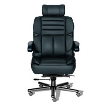 24/7 Big and Tall Chair with Headrest in Leather, 50919