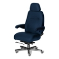 24/7 Big and Tall Chair with Headrest in Fabric, 50920