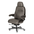24/7 Big and Tall Chair with Headrest in Leather Front and Vinyl Sides, 50922