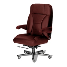 24/7 Big and Tall Chair with Leather Front and Vinyl Sides, 50926