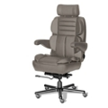 24/7 Big and Tall Chair with Leather Front and Vinyl Sides, 50930