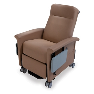 Heat and Massage Transport Recliner with Trendelenburg and Side Table, 26274