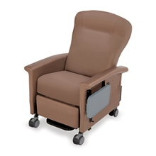 Wing-Back Bariatric Transport Recliner with Side Table, 26278