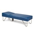 """Vinyl Recovery Couch with Chrome Legs 27""""W , 25267"""